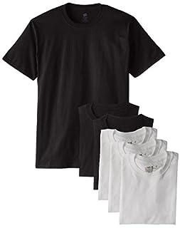 Hanes 5280 Comfortsoft Men's 6 Pack Crew Neck Tee - Black/White - Small (B014FVFQ3K) | Amazon price tracker / tracking, Amazon price history charts, Amazon price watches, Amazon price drop alerts