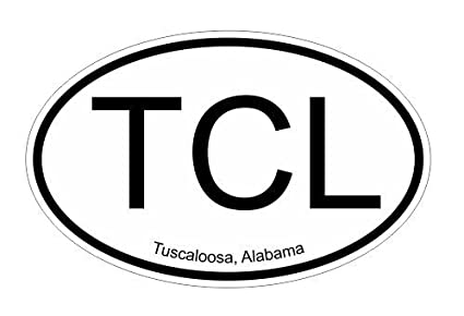 Tcl tuscaloosa alabama oval vinyl decal sticker