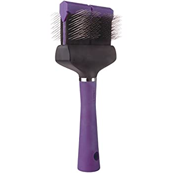 """Master Grooming Tools Double-Sided Soft Flexible Slicker Brushes — Versatile Brushes for Grooming Dogs - Purple, 8""""L x 4""""W"""