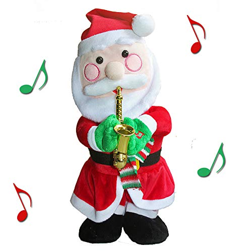 QIUYEJUO Twerking Santa Claus Figure Singing Dancing Musical Santa Electric Toy Ornaments, for Kids