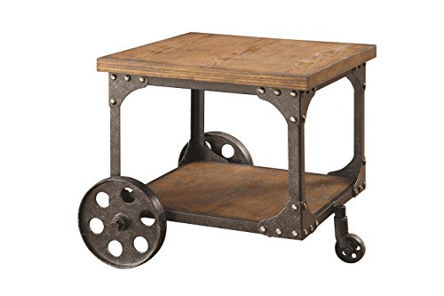 Coaster Cont End Table Rustic Brown