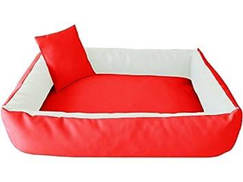 ELMO Perros sofá cama para perros Dormir Espacio Perros Cojín Cesta de piel sintética tamaño: M - 65 x 80 cm: Amazon.es: Productos para mascotas