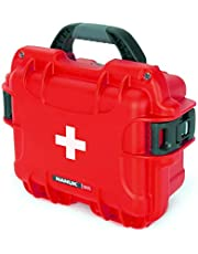 Nanuk 905 Waterproof First Aid Prepper Survival Gear Dust and Impact Resistant Case - Empty - Red - Made in Canada (905-FSA9)