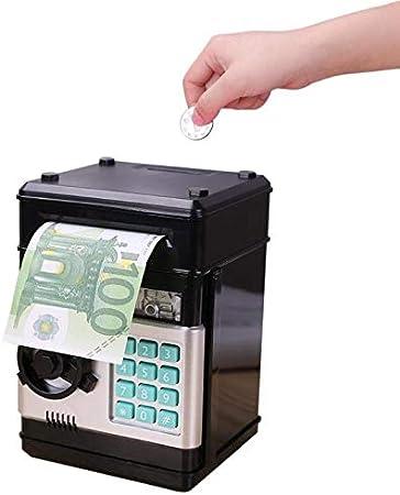 TQ Electronic Piggy Bank Cajero automático Contraseña Caja de Dinero Monedas en Efectivo Caja de Ahorro Banco Cajero Caja de Seguridad Depósito automático Billete Regalo para niños: Amazon.es: Hogar