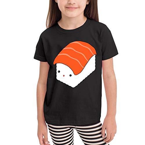 SHIRT1-KIDS Cute Sushi Costume Toddler/Infant Crewneck Short Sleeve Shirt T-Shirt for 2-6 Toddlers Black