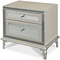 Michael Amini Hollywood Swank Upholstered Night Stand, Crystal Croc