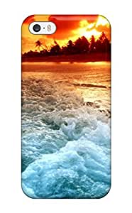 taoyix diy Anti-scratch And Shatterproof A Man Paragliding On The Beach Phone Case For Iphone 5/5s/ High Quality Tpu Case