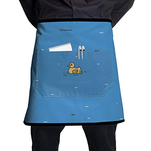 - ALLMYHOMEDECOR Duck Iceberg Cartoon Waist Aprons Bib Mens Womens Adjustable Polyester Cooking Gardening BBQ Kitchen Chef Apron for Outdoor Serving Grill Restaurant Cleaning Baking Crafting