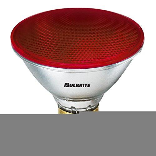 Bulbrite 683907 H90PAR38R 90-Watt Dimmable Halogen PAR38, Medium Base, Red (Pack of 24)