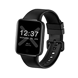 TMYIOYC Fitness Tracker, Health Smart Watch with Heart Rate, Blood Pressure, Body Temperature, Sleep Monitor, Pedometer…