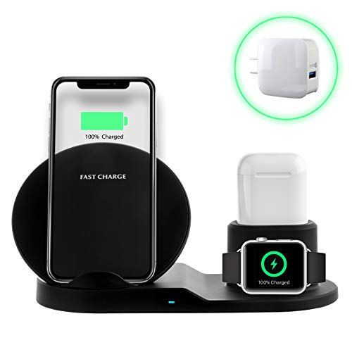 PeepCase 3-in-1 Wireless Quick Charging Station for Wireless Charging Station for Qi Enabled Smartphones - In Accessories One Phone All
