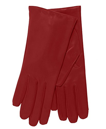 Fratelli Orsini Everyday Women's Italian Cashmere Lined Leather Gloves Size 8 Color Red