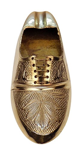 (Garden Of Arts Vintage Brass Shoe Ashtrays,Brass Bohemian Home Decor, Brass Cigarette Rest)