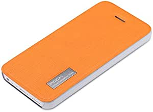 Orange ROCK Elegant Series Side Flip Protective Leather Cover for iPhone 5c