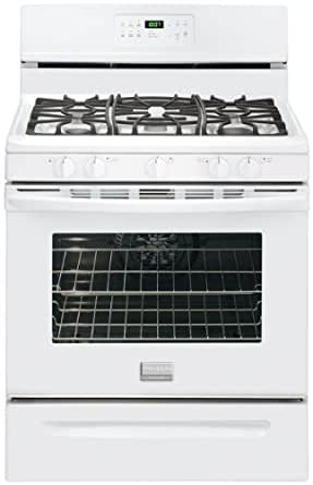 """FGGF3032MW Gallery Series 30"""" Wide Freestanding Gas Range 5 Sealed Burners Easy Temperature Probe Express-Select Controls One-Touch Self Clean:"""