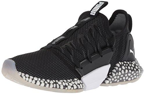 PUMA Women's Hybrid Rocket Runner Sneaker Black-Iron gate White, 10 M US