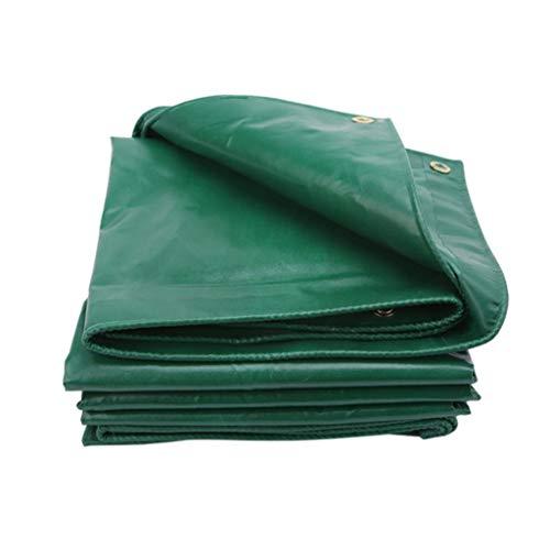 Tarpaulin Green - Carl Artbay Fireproof Waterproof Cover Tarp Tarpaulin Sheet Ground Sheet Tear Proof PVC Canvas Raining Canopy Thicken Truck Tent Outdoor Garden Pickup Cover, Green Tarpaulin (Size : 5x6m)