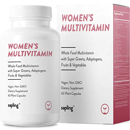 Multivitamin for Women Daily Supplement – with Whole Food Vitamins, Plant-Based, Organic Fruits and Vegetables. Vitamin A, B Complex, C, D3, E, K2 Black Pepper. Vegan and Non-GMO – 60 Capsules.