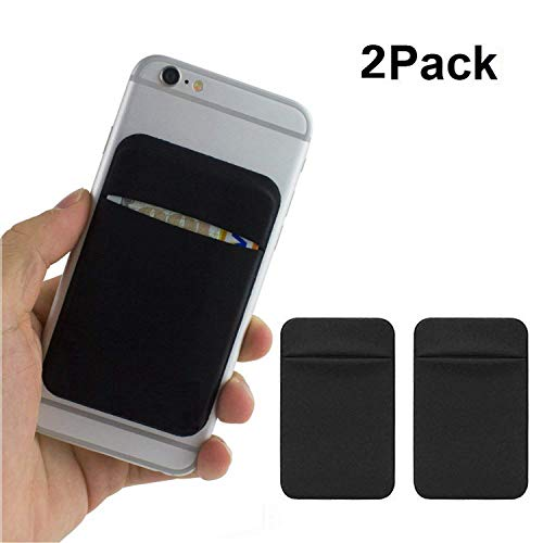 of Phone, Phone Credit Card Holder Wallet Stick on Back iPhone 8 7 6 Plus Case ()