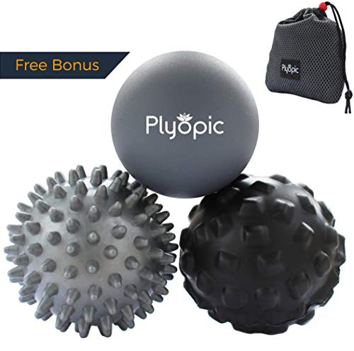 Plyopic Massage Ball Set – for Deep Tissue Muscle Recovery, Myofascial Release, Trigger Point Therapy, Crossfit Mobility and Plantar Fasciitis - Massage Rubz Ball Foot