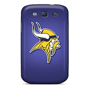 ErleneRobinson Samsung Galaxy S3 Protective Hard Phone Cases Support Personal Customs Trendy Minnesota Vikings Pictures [QaA14210hKry]