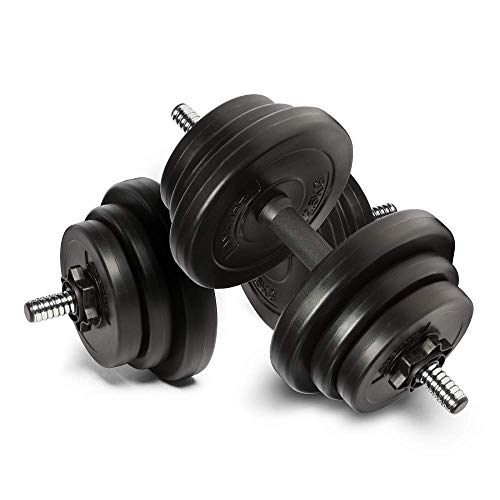 Anchor 20kg Adjustable Dumbbells Weights set for Men Women, Dumbbell hand weight Barbell Perfect for Bodybuilding…