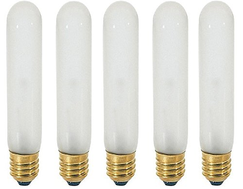 Sunlite 120-Volt 60-Watt T10 Medium Base Light Bulb, Frosted - 5 Pack