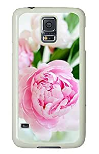 White Fashion Case for Samsung Galaxy S5,PC Case Cover for Samsung Galaxy S5 with Pink Flowers