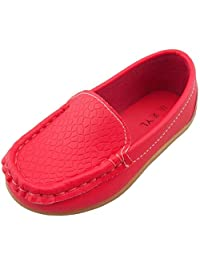 PPXID Girl's Boy's Soft Slip-on Loafers Casual Leather Dance Doug Shoes