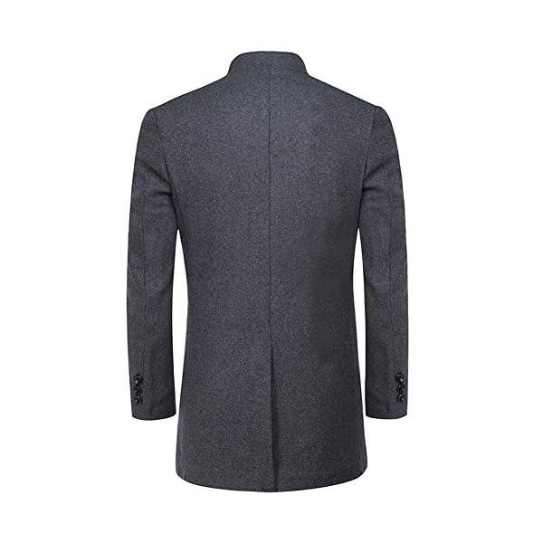 YOUTHUP Manteau Homme Chaud d'hiver Veste Longue en Laine Trench-Coat Bombers Slim Fit Outwear