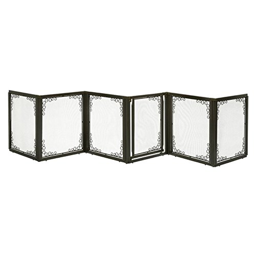 richell-convertible-elite-mesh-pet-gate-6-panel