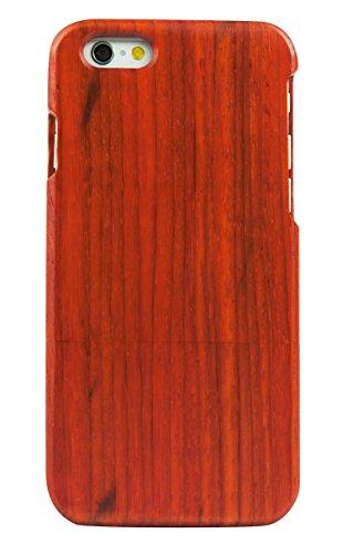 SunSmart Manual Natural Wood Bamboo Caja De Madera para iPhone 6 4.7(color de la raya) palo de rosa