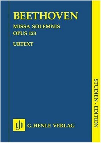 Livres audio gratuits téléchargement ipod Missa Solemnis en Re Majeur Op. 123 B00006M1PI PDF