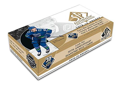 Hockey Hobby Pack - 2018/19 Upper Deck SP Authentic NHL Hockey HOBBY box (18 pks/bx)