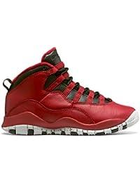 c52c0c968eda Boys Air Jordan 10 Retro 30th BG Bulls Over Broadway Gym Red-Black-Wolf