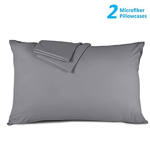 Toplus 2Pack Queen Size Pillowcases, 100% Brushed Microfiber Pillowcase Protector, Ultra Soft, Wrinkle Resistant, Bed Bug, Dust Mite, Allergy Control, Bedding Sets Pillow Covers, (Bedbug Pillowcase)