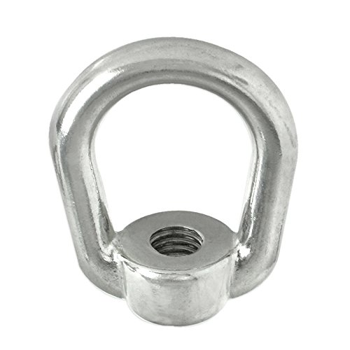 Stainless Steel Oblong Lifting Eye Nut Ring 1//4 Tap UNC 520 LBS Capacity Grade 316 SS Safeland