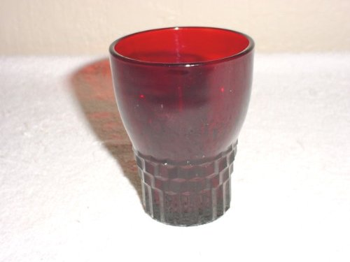 Anchor Hocking Royal Ruby Windsor Juice Tumbler