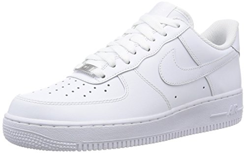 Nike Air Force 1 White - Nike Air Force 1 '07 Mens Sneakers Style# 315122 (12 Mens US, White/White)