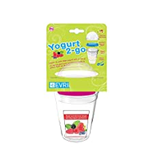 Evriholder Yogurt Container, Red, Blue and Green