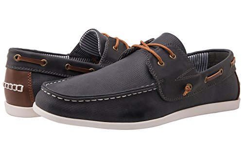 GW M1663-6 Loafers Shoes 10.5 (Blue Boat Shoes)