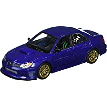 Welly Collection 1:24 2005 Subaru Impreza WRX STI Diecast Model Sport Car, Blue