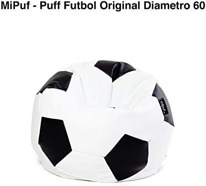 MiPuf - Puff Futbol Original - 60cm diámetro - Tejido Polipiel ...