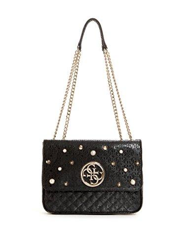 GUESS Gioia Embellished Mini Crossbody (Handbag Pearl Guess)