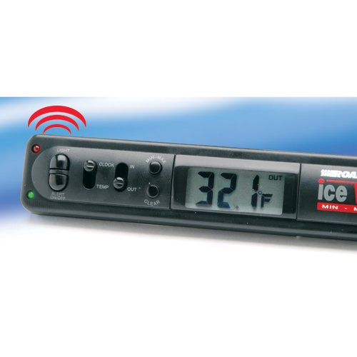 RoadPro 3172 Indoor/Outdoor Electronic Thermometer with Ice Alert and Clock