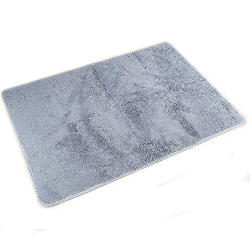 DealMux 2,5 centmetros macio macio Tapetes Anti-Skid Shaggy Tapete Tapete Sala de jantar Quarto Home Carpet (80x120cm Gray)