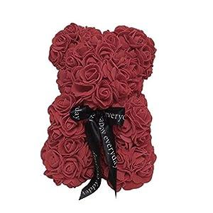tigerlee. Teddy Bear Rose Bear Artificial Rose Anniversary Christmas Valentines Gift 11