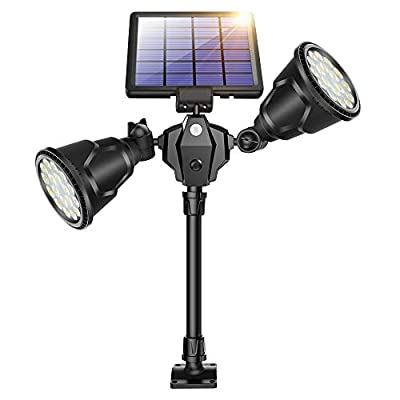 ROSHWEY Solar Spot Lights Outdoor, 1000 Lumens Bright Landscape Light 36 LED Waterproof Wall Lamps with Motion Sensor & 4 Modes for Garden Patio Garage Driveway
