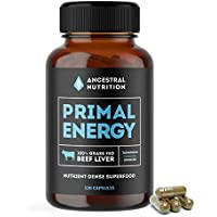 Primal Energy - Organic Beef Liver Capsules - 100% Grass Fed Liver - 30 day supply