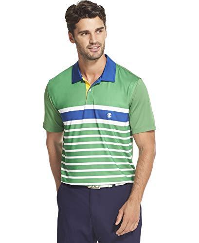 IZOD Men's Golf Fashion Short Sleeve Polo Shirt, Medium Green, XX-Large